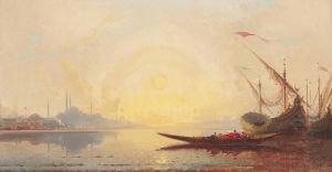 Sailing boats on the Golden Horn, Henri Duvieux 1885. Image: https://plus.google.com/101885177289635488458/posts/eqcu3Kj4Qrs